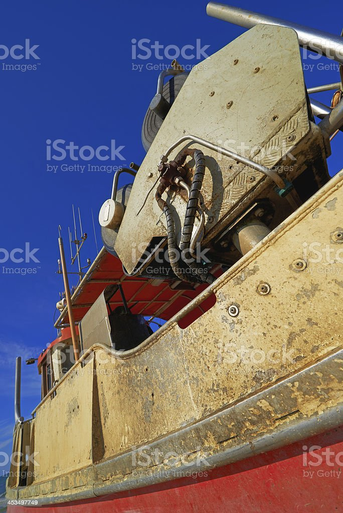 A photo of a small fishing boat royalty-free stock photo