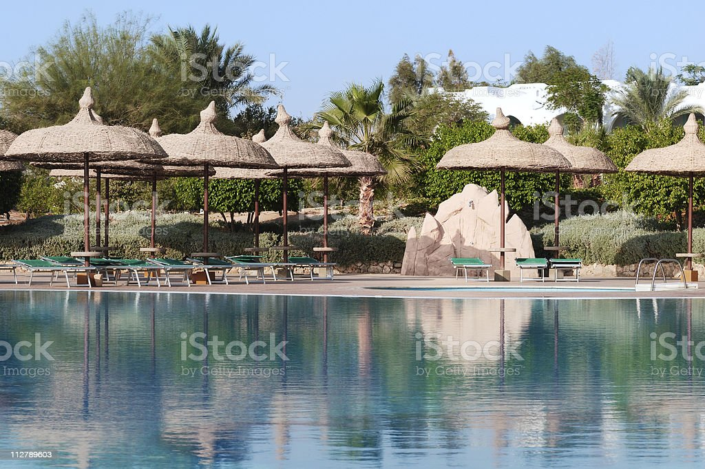 Photo of a swimming pool royalty-free stock photo