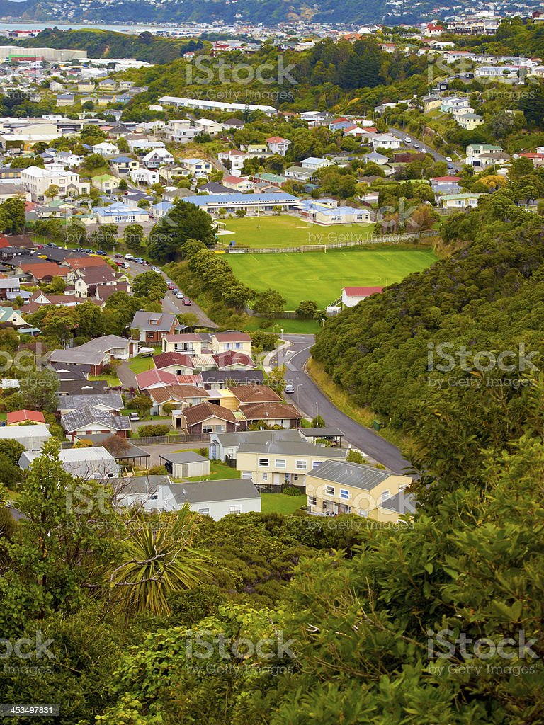 A  photo of a Wellington city on North Island, New Zealand. royalty-free stock photo