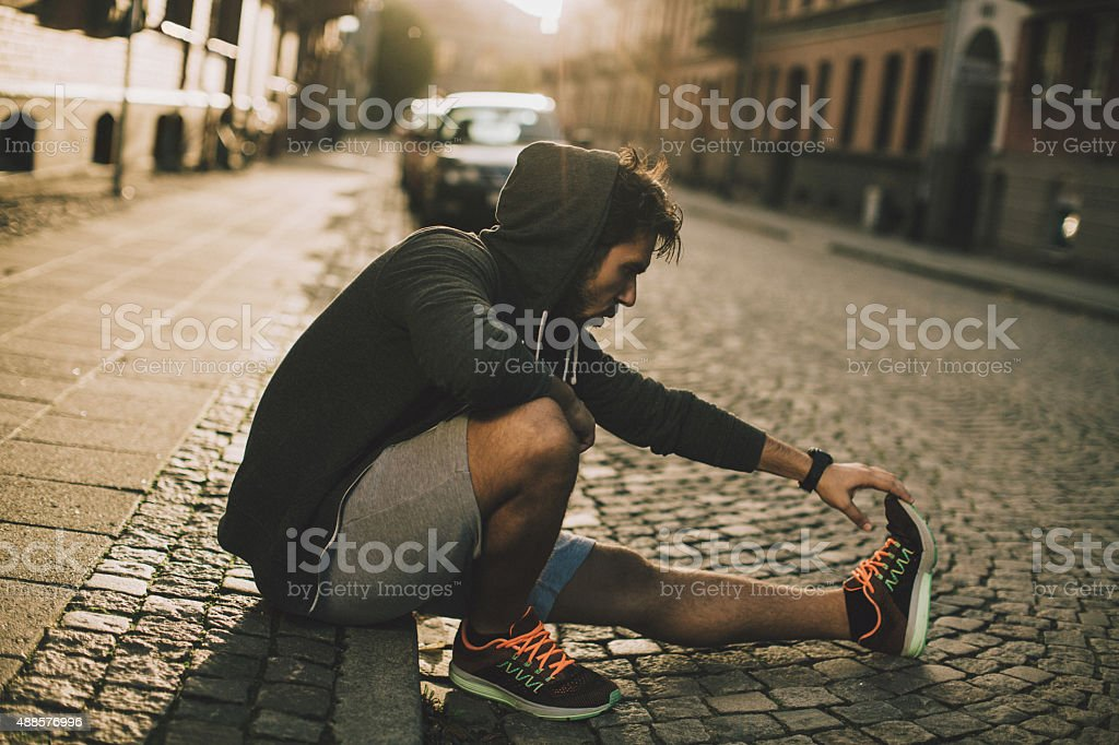 Photo of a young athletic man stock photo