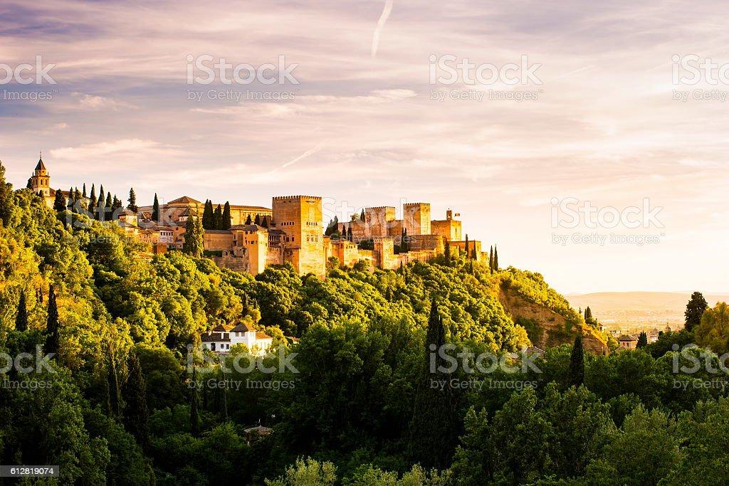Photo of Alhambra in Granada, Spain stock photo