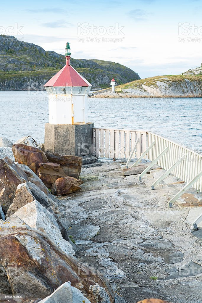 A photo of an old lighthouse - Norway royalty-free stock photo