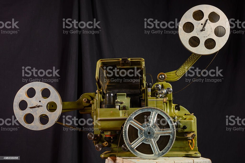 photo of an old movie projector stock photo