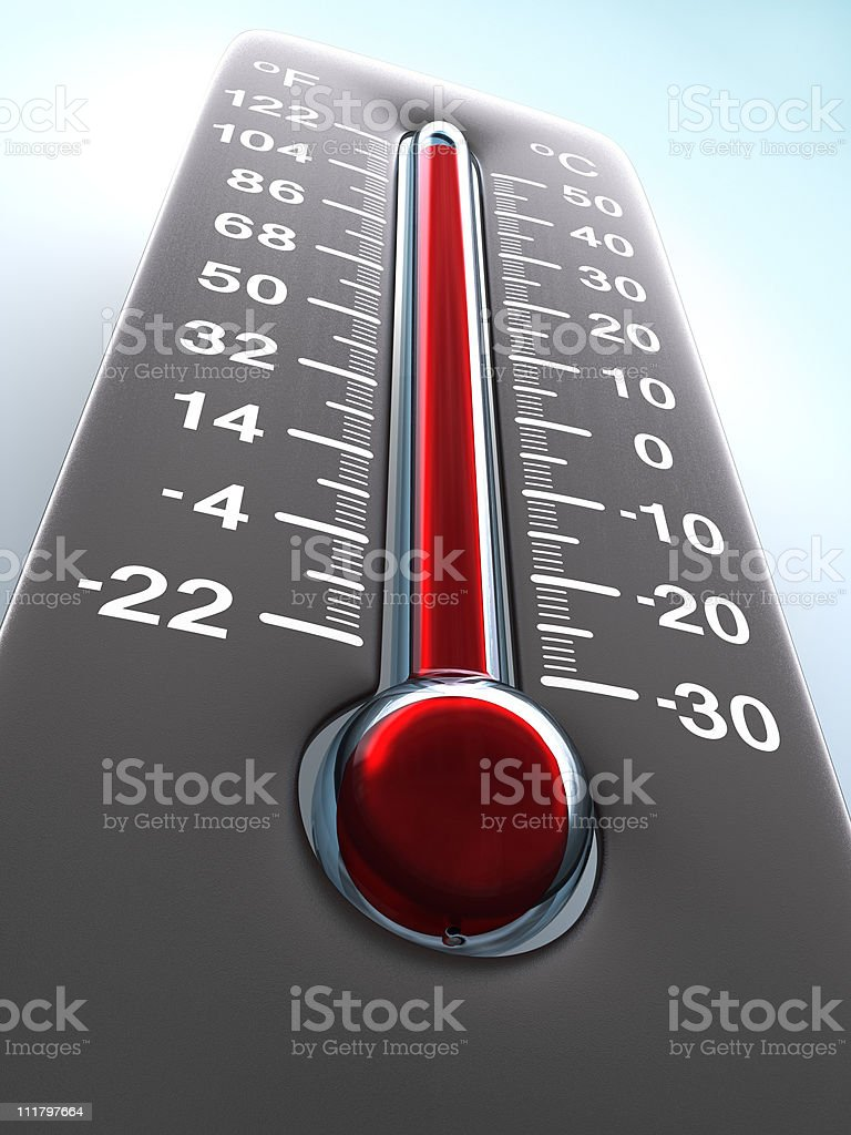 Photo of an old wall thermometer stock photo