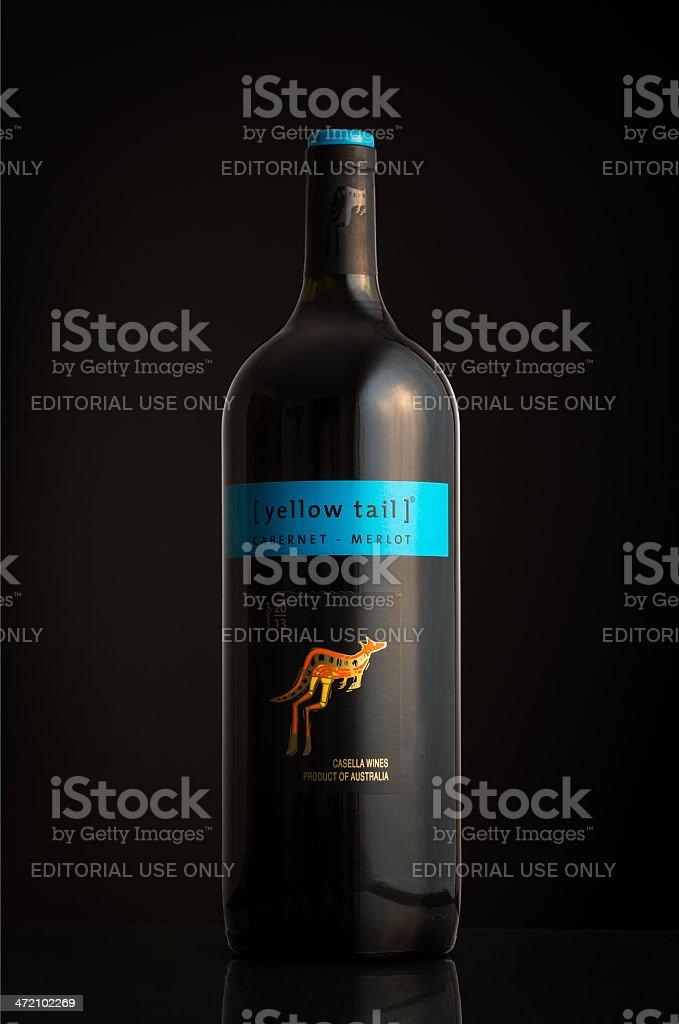 Photo of an Yellow Tail Cabernet Merlot bottle stock photo