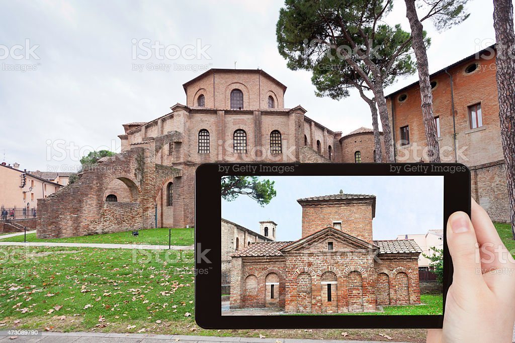 photo of ancient Basilica in Ravenna, Italy stock photo