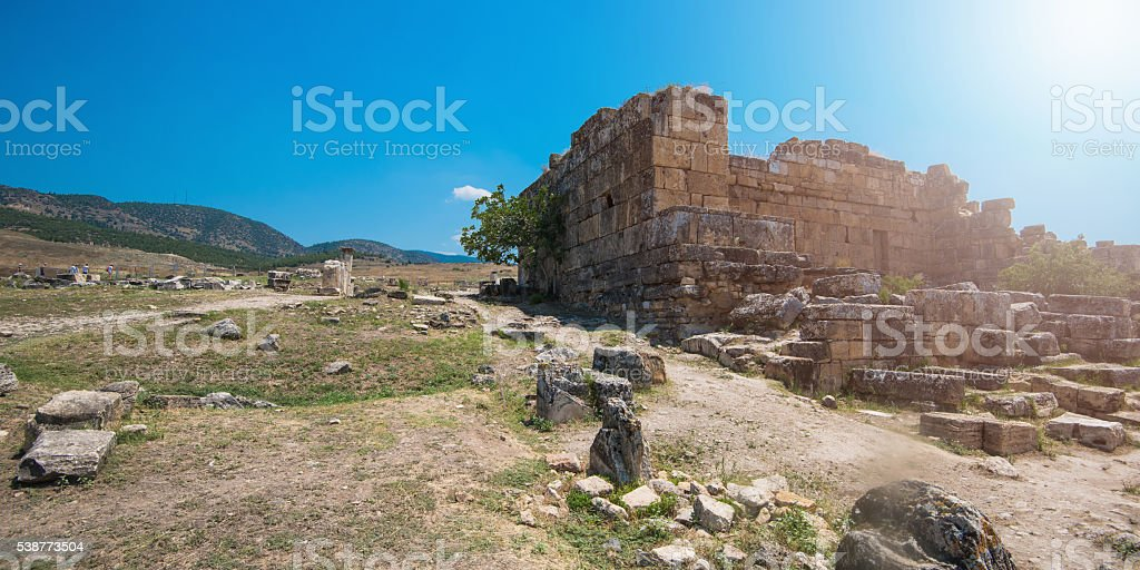 photo of ancient city Hierapolis stock photo