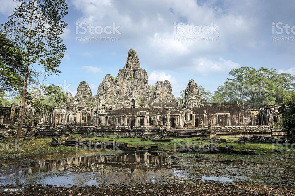 A photo of Angkor Bayon Temple at Siem Reap Cambodia stock photo