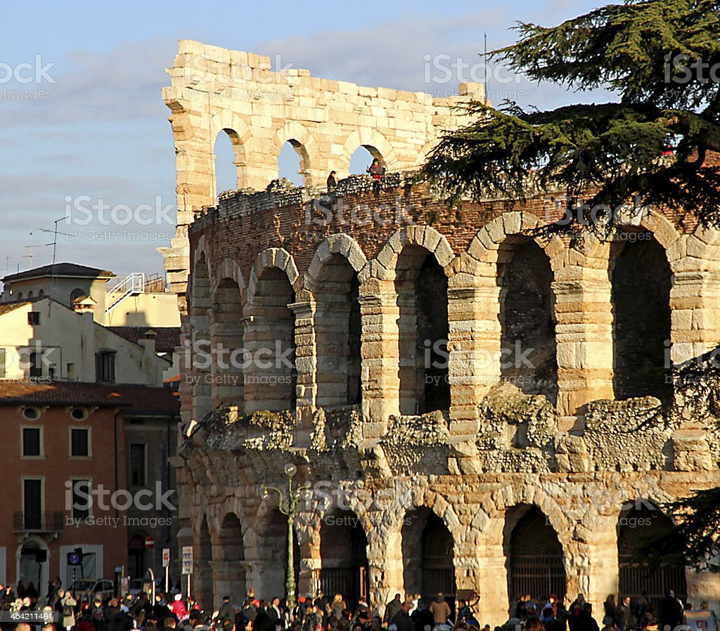 Photo of Arena of Verona building in Italy stock photo