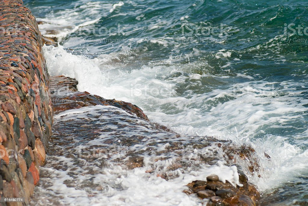 Photo of beautiful clear turquoise sea ocean water surface with stock photo