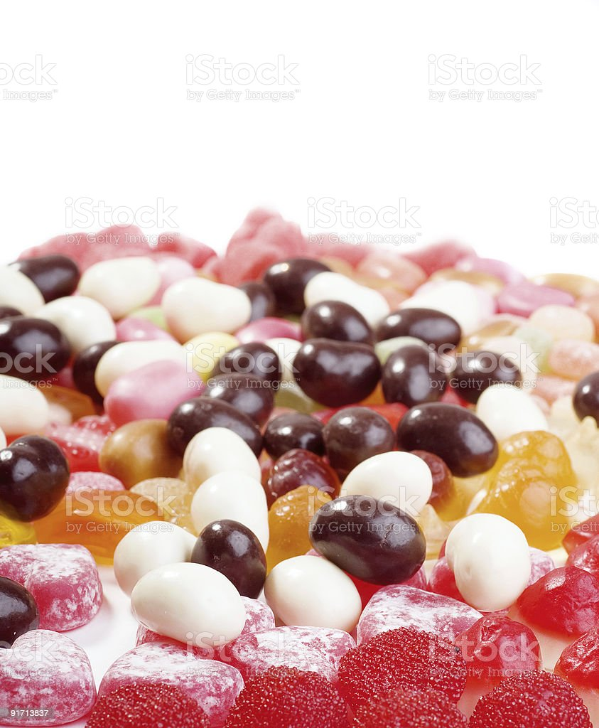 Photo of big collection colored candies royalty-free stock photo