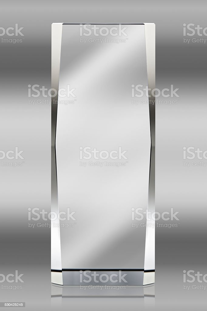 Photo of blank glass plate with clipping path stock photo