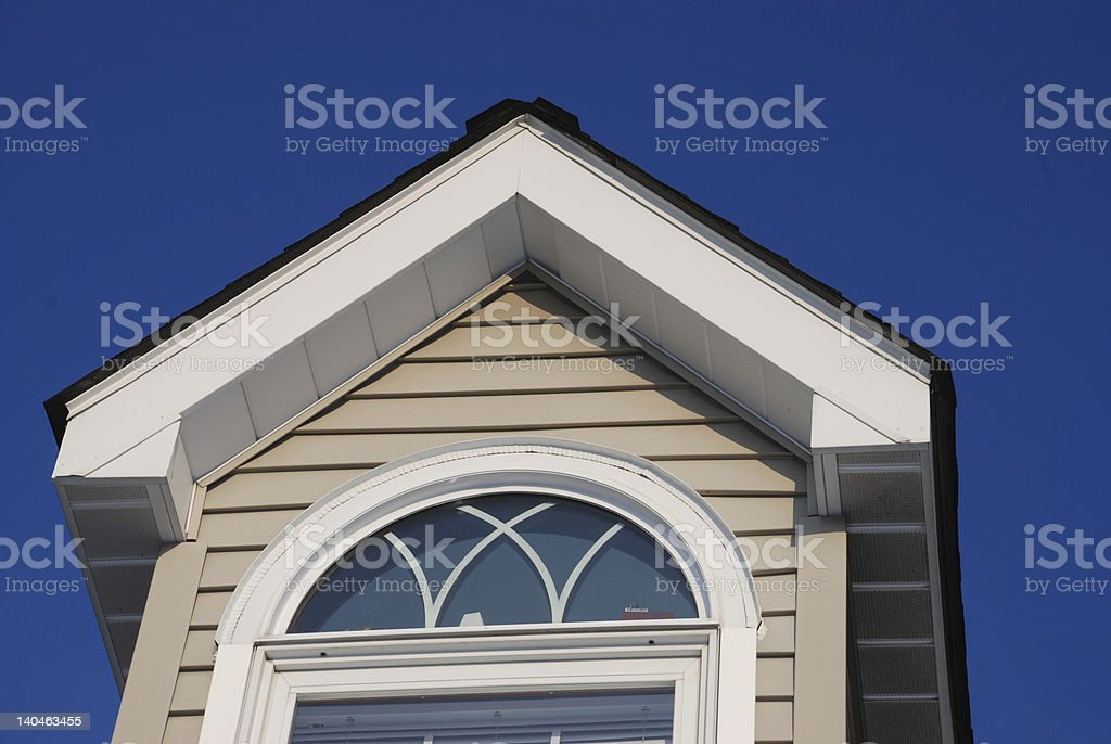 Photo of Cape Cod Gable from the bottom royalty-free stock photo