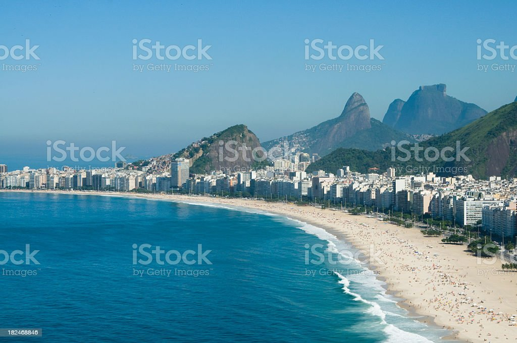Photo of Copacabana Beach on a calm day royalty-free stock photo