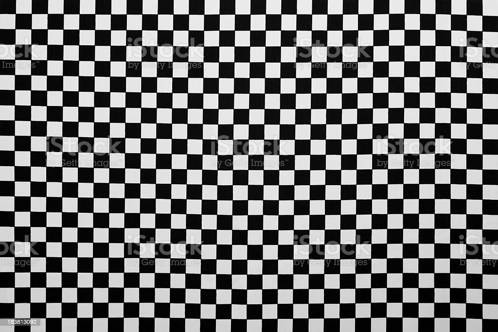 Photo Of Fabric As Black And White Plaid Background stock photo