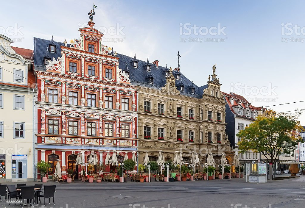 A photo of Fischmarkt Square in Erfurt, Germany stock photo