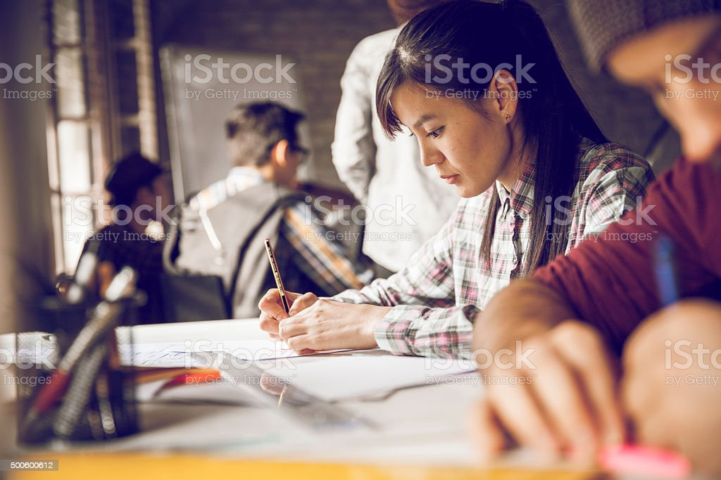 Photo of freelancers working stock photo