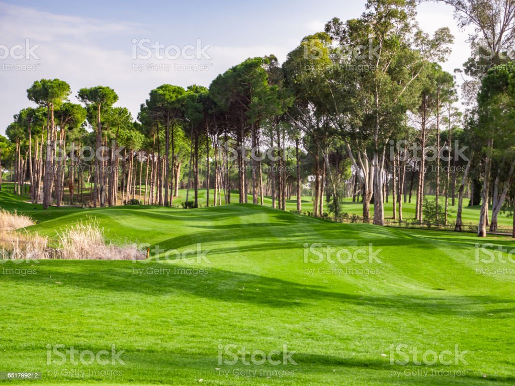 Photo of Golf course in the countryside stock photo