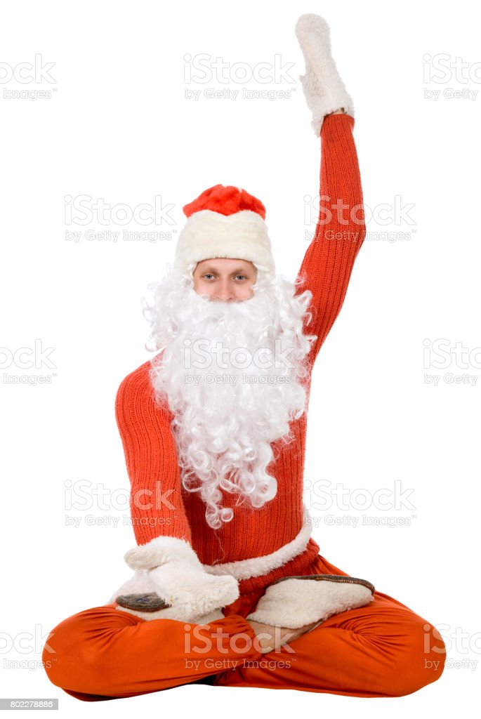 Photo of happy Santa Claus stock photo