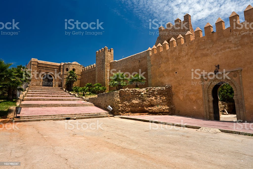 Photo of Kasbah des oudaias during the day royalty-free stock photo