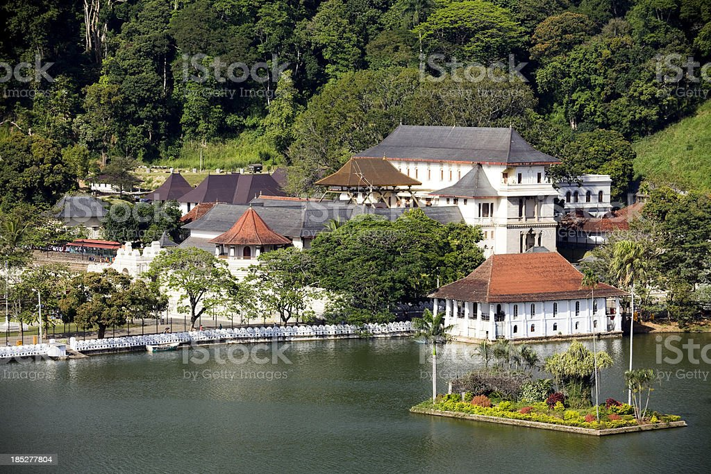 Photo of lake in kandy Sri Lanka stock photo