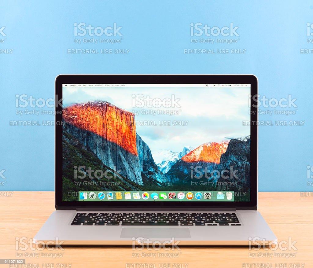 Photo of Macbook pro stock photo