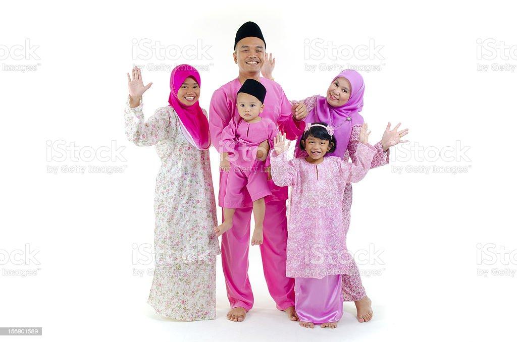 photo of malay family stock photo