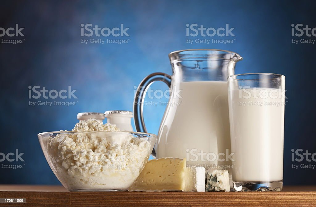 Photo of milk products. royalty-free stock photo
