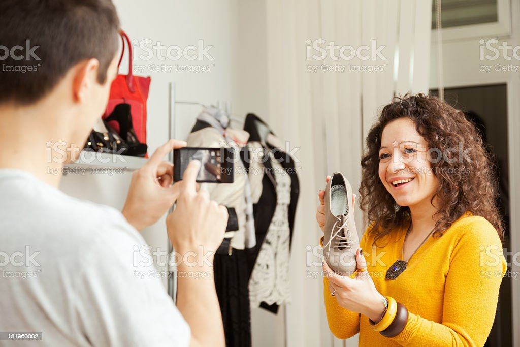 Photo of new shoes royalty-free stock photo