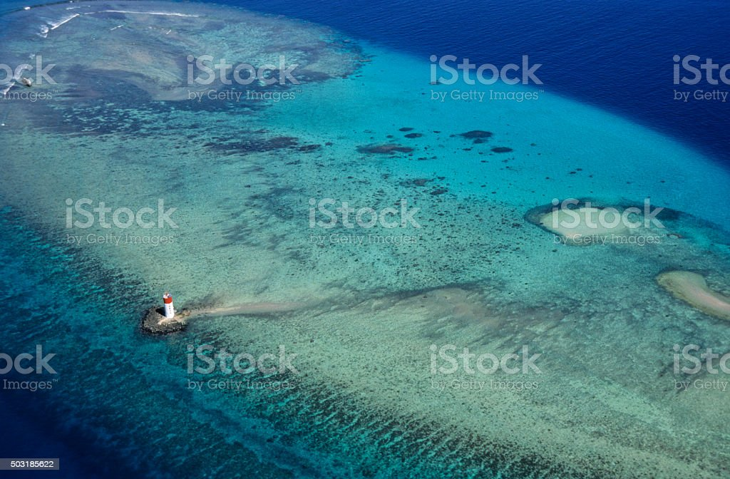 Photo of Noumea lagoon and coral reefs stock photo