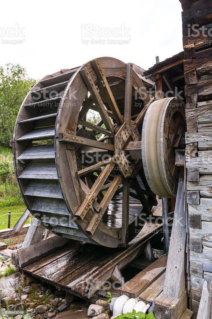 Photo of Old watermill stock photo