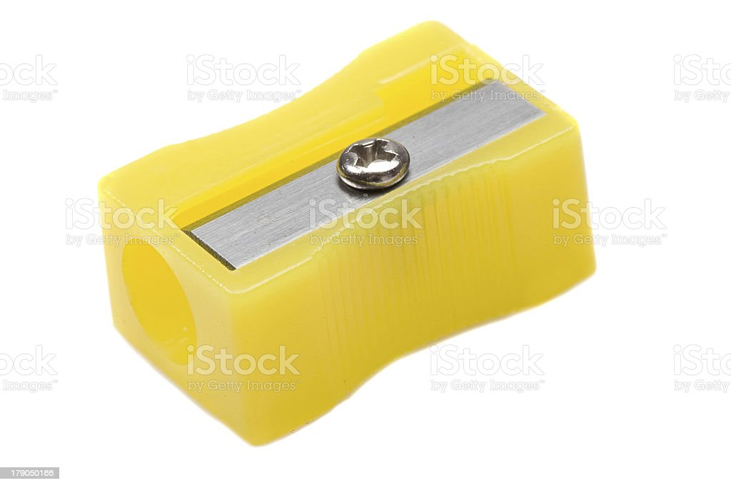 Photo of one pencil-sharpener royalty-free stock photo