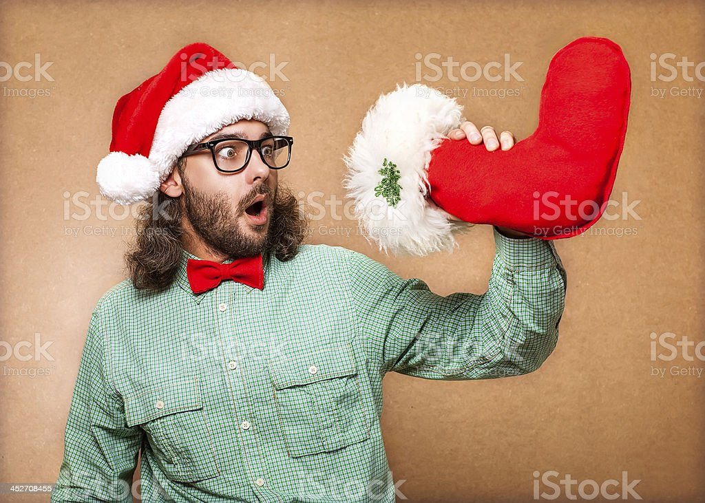Photo of Santa Claus. Hipster style. royalty-free stock photo