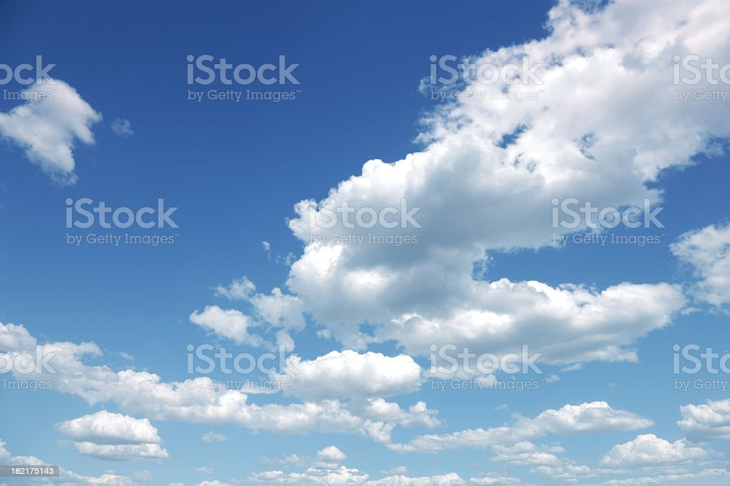 Photo of some white whispy clouds and blue sky cloudscape royalty-free stock photo
