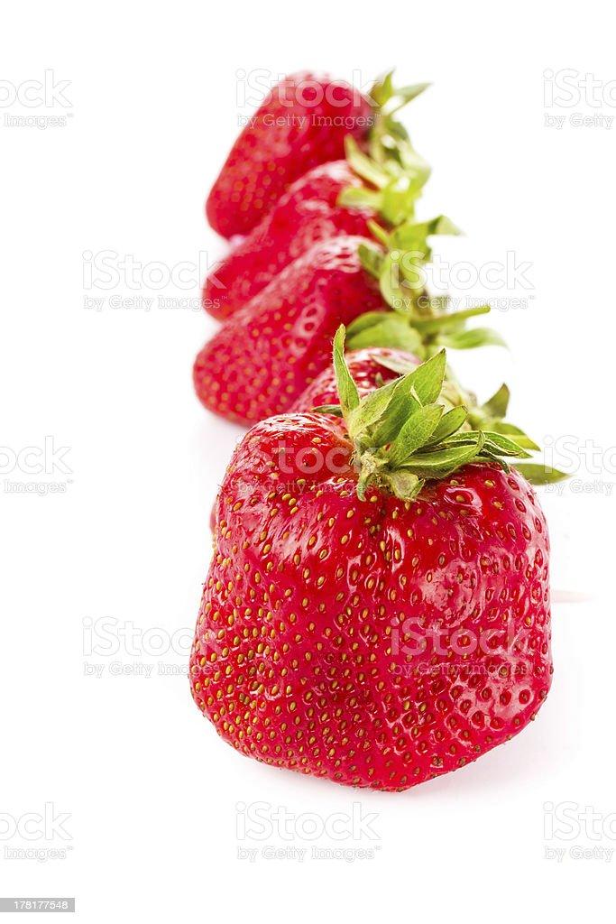 Photo of strawberry isolated on white background, closeup royalty-free stock photo