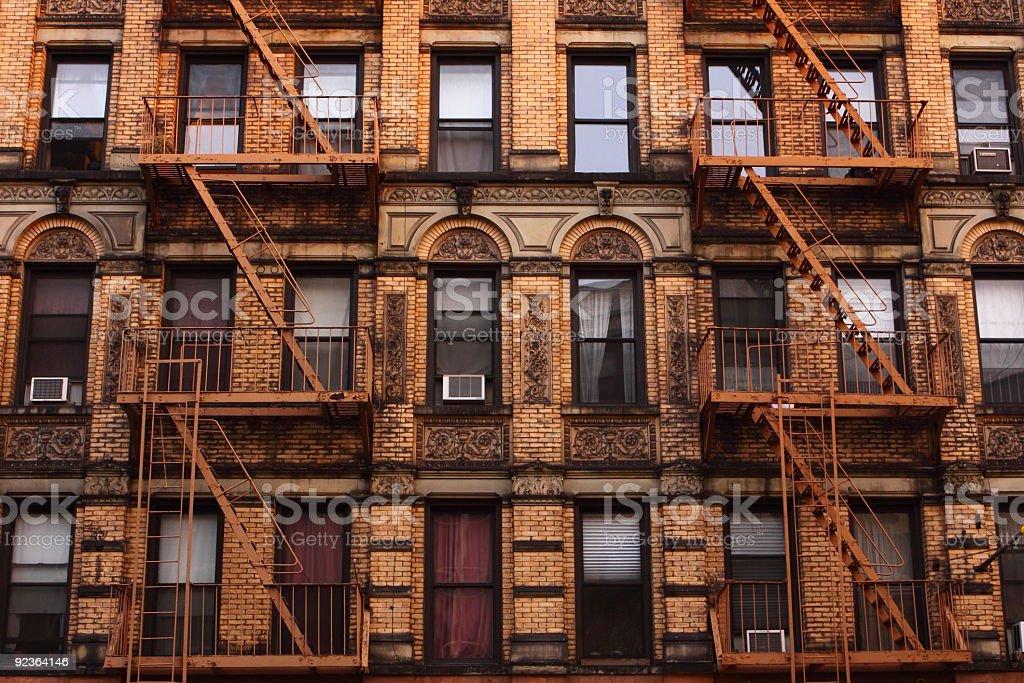 Photo of Tenement in Manhattan, New York stock photo