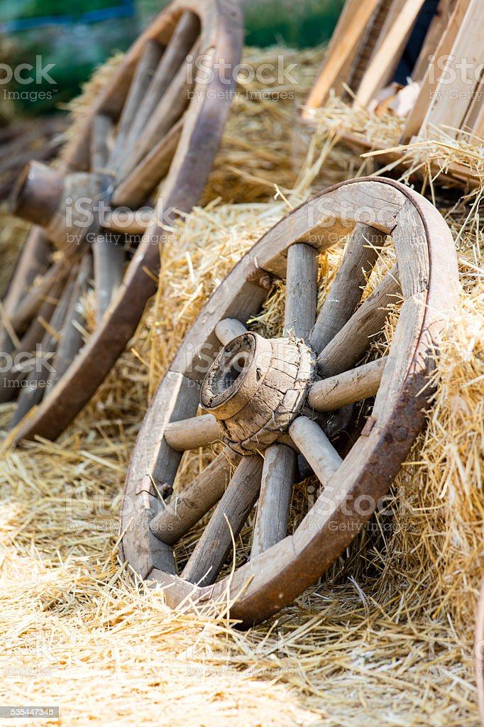 photo of the cart wheels stock photo