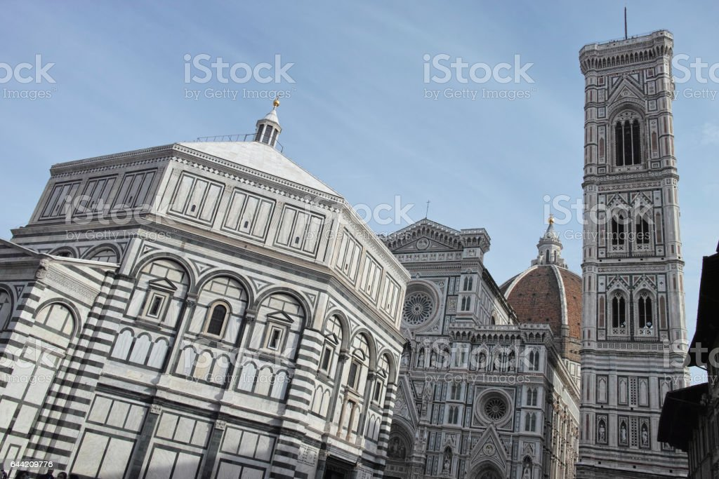 Photo of the Duomo di Firenze taken on a sunny morning. stock photo