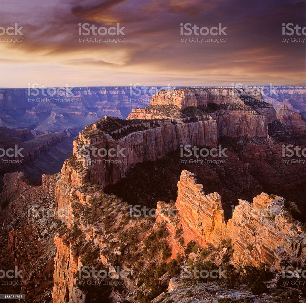 Photo of the Grand Canyon at sunset royalty-free stock photo