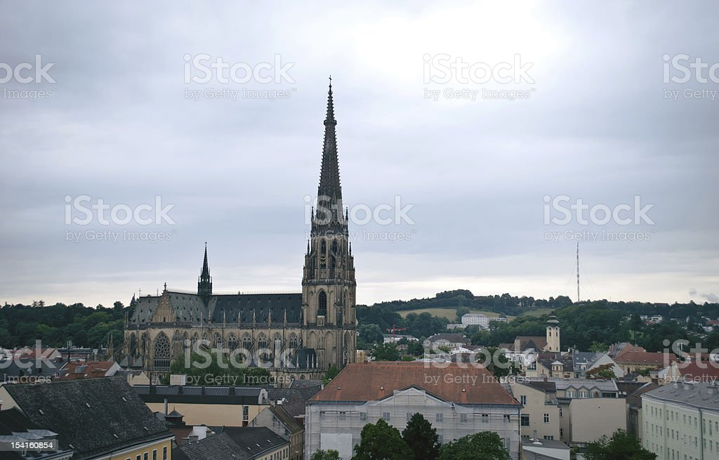 Photo of the Maria Empfaengnis church Linz royalty-free stock photo