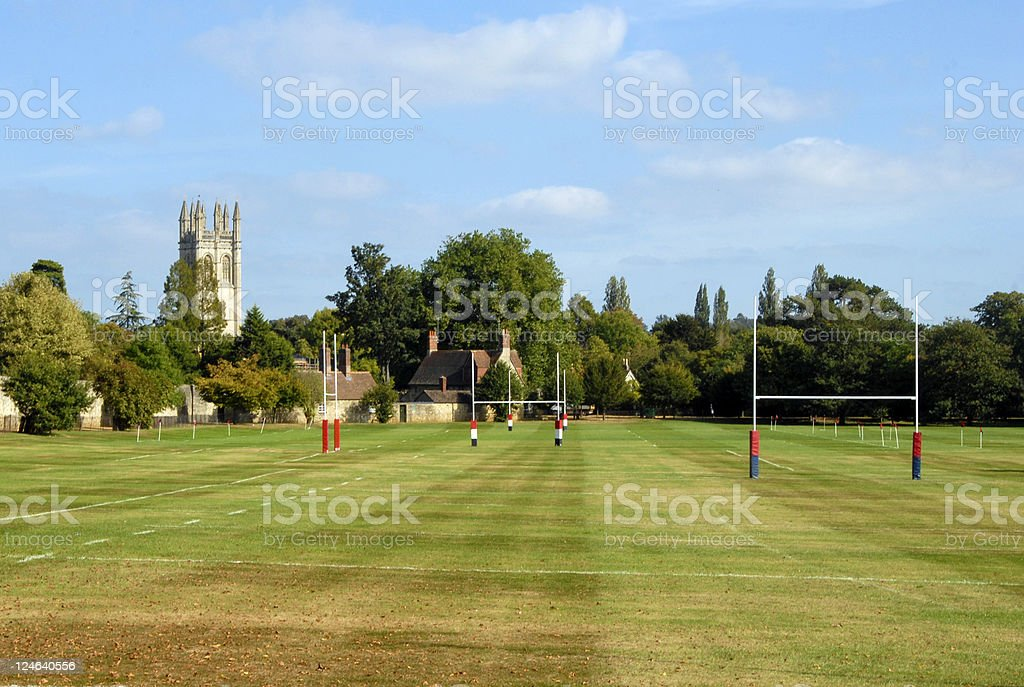 A photo of the Oxford University Rugby Field stock photo