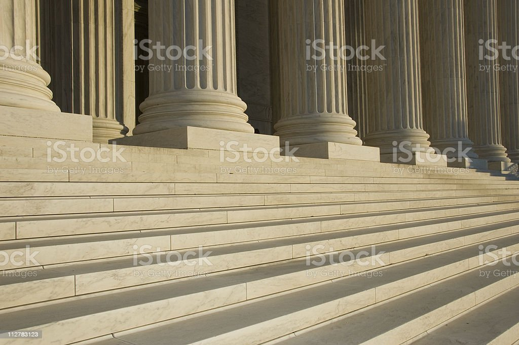 Photo of the steps and columns at the U.S. Supreme Court royalty-free stock photo