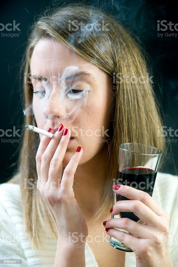 Photo of Woman with addictions stock photo