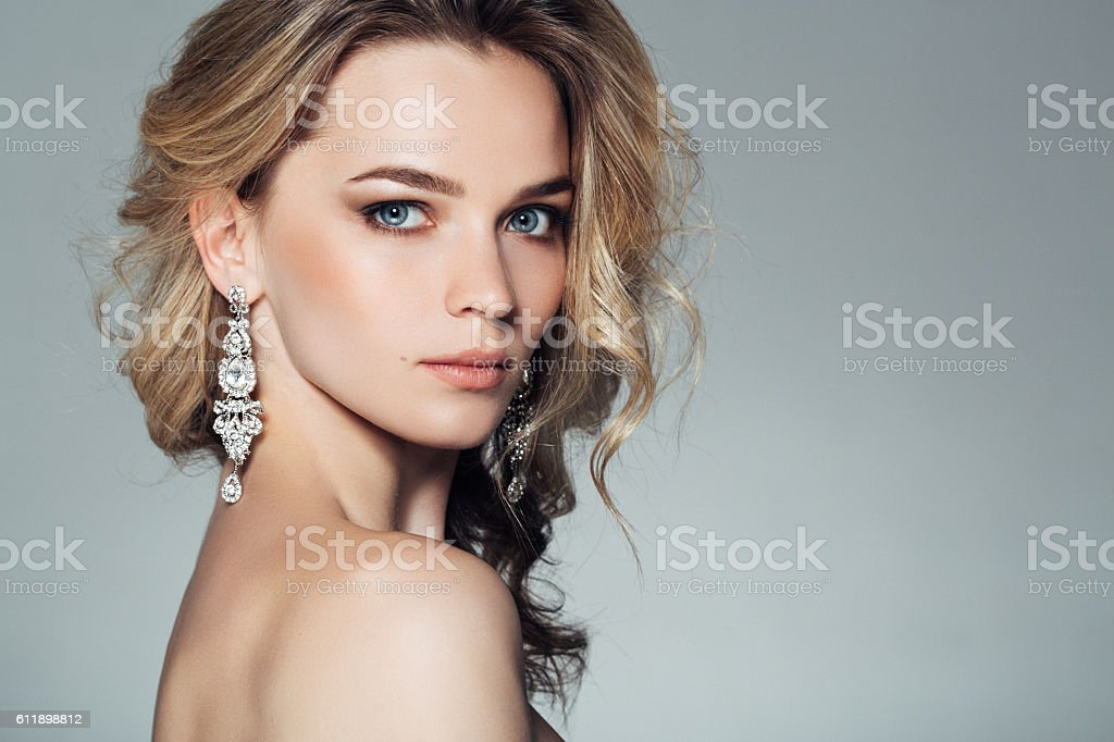 Photo of young beautiful woman stock photo