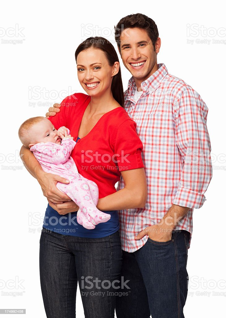 A photo of young parents and their baby girl royalty-free stock photo
