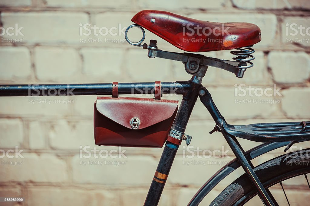 Photo old vintage bike. stock photo
