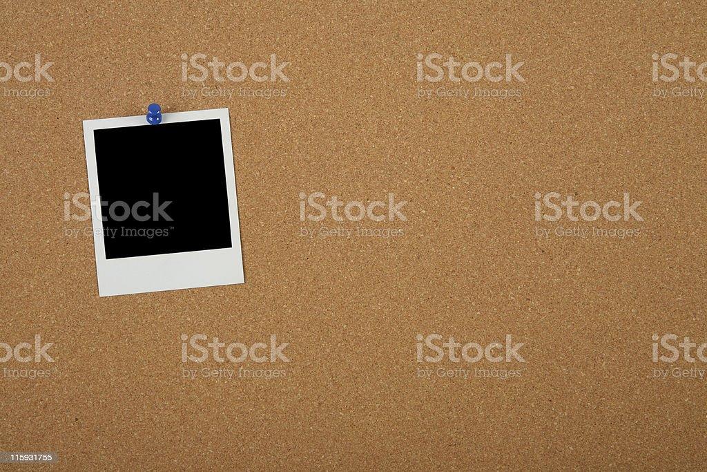 Photo on Cork Board royalty-free stock photo