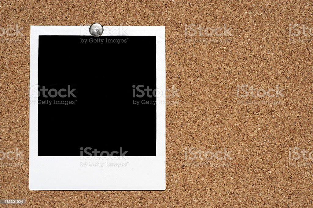 Photo on cork board royalty-free stock photo