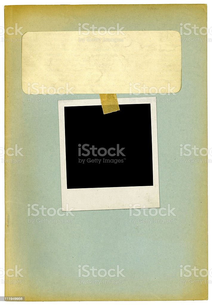 Photo on old personnel dossier royalty-free stock photo