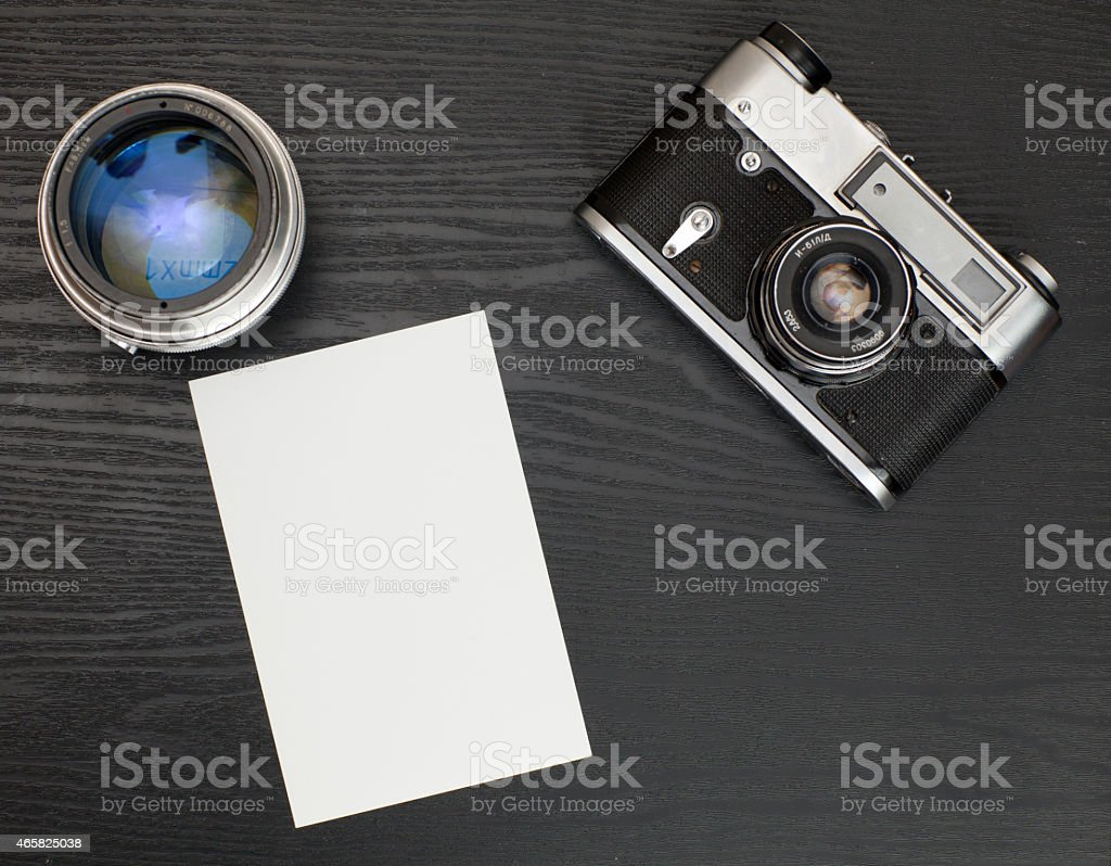 Photo on the table stock photo